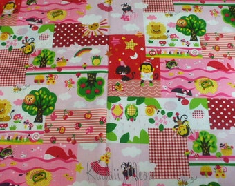 SALE - Wonder Forest on pink - Half Yard(ta0705)