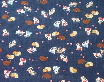 Beautiful Japanese Fabric - Kawaii Cats - Half Yard (11ki0819)