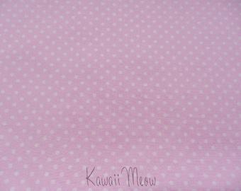"""Scrap - Polka Dots Pastel Pink x White Dots -110cm/43""""W x 62cm/24""""L  (12ko0126)"""