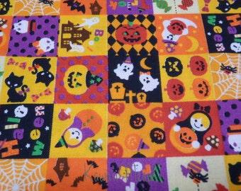 SALE - Halloween Patchwork on Orange - Half Yard (12i0615)