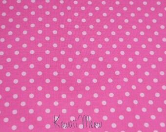 SALE - Polka Dots Pink x White Dots - Half Yard (12ko0114)