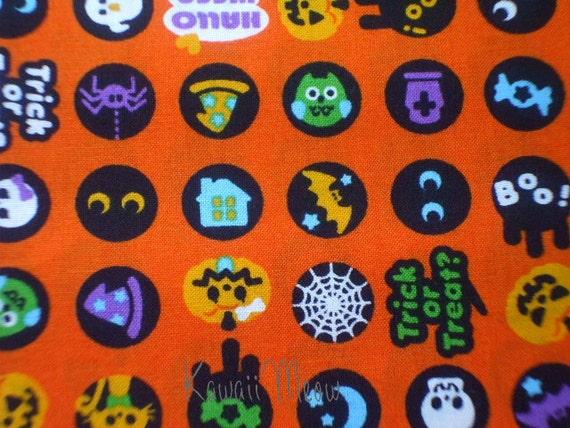 SALE - Halloween Ball on Orange - Fat Quarter (i0624)