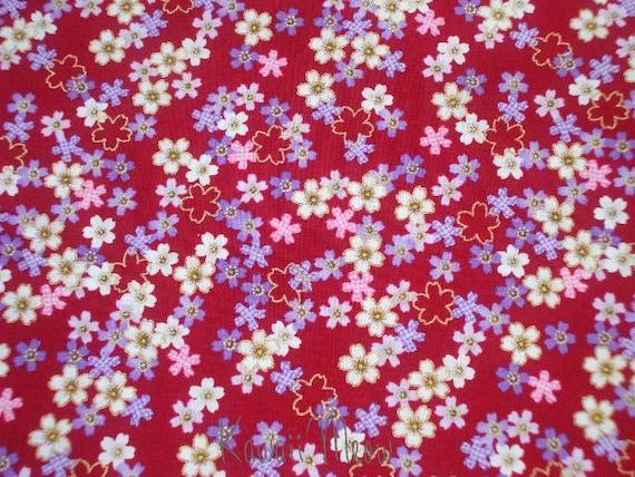 Beautiful Japanese Fabric - Sakura Red- Fat Quarter (11ki0726)