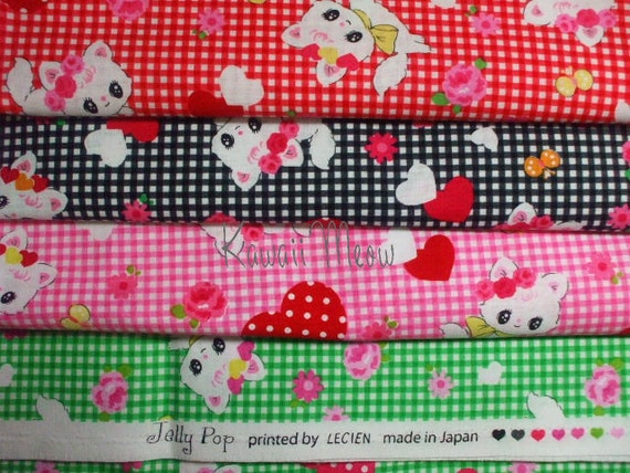 SALE - LECIEN Cats Heart - 4 Fat Quarter Bundle Set (11o1030)