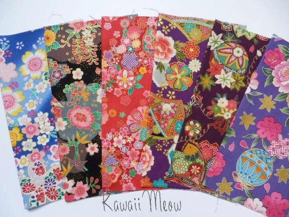Japanese Fabric - Scraps 6 pieces (403)