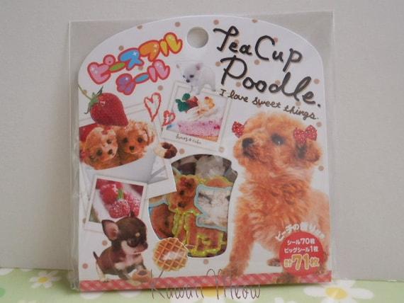 Kawaii Sticker Flakes - Tea Cup Poodle -
