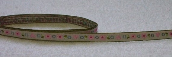 Cute Japanese Woven Trims -Flower and Heart- 1 M