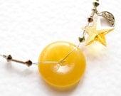 Necklace - Sun, Moon, Star - Swarovski, silver - by Schneider Gallery