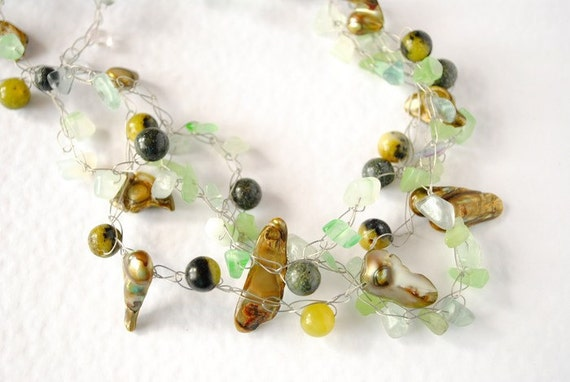Necklace/Pendant -  In Green - multifunctional for creatives - by Schneider Gallery