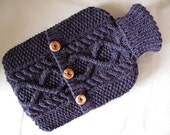 Blueberry hot water bottlesweater / cover - 100 per cent Scottish wool