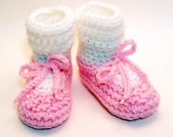 Ballet Slippers Crochet Baby Booties 0-6 Months