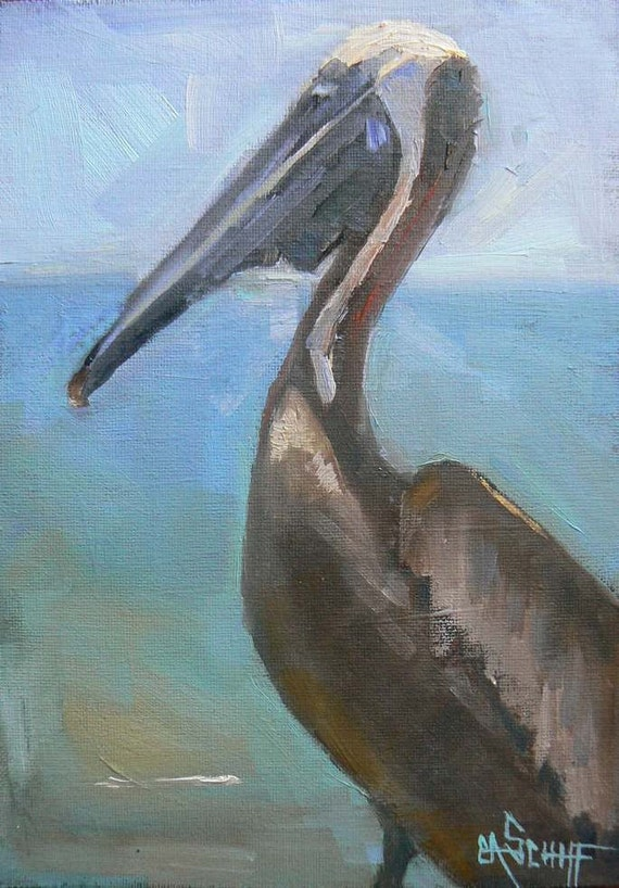 HANGING OUT, 5X7, Oil, Framed, Reserved for Heather