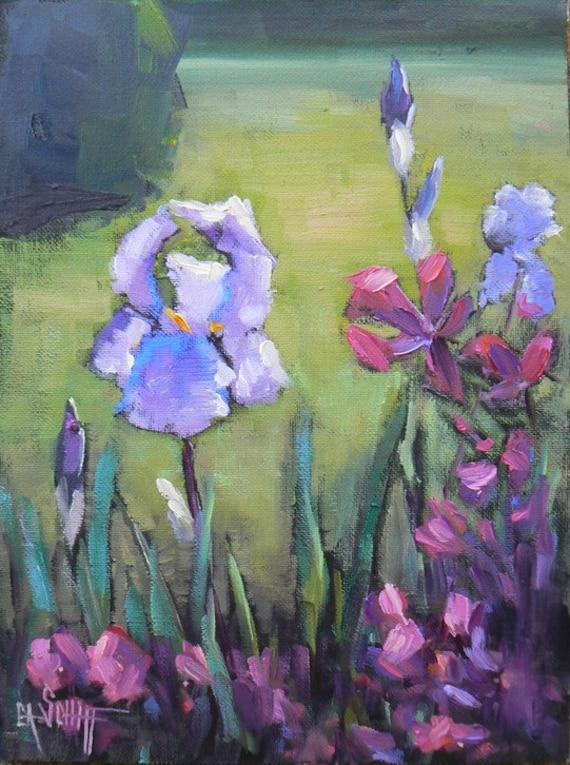 "Landscape Painting, Original Garden Daily Painting, OOAK, 8x6"", ""Mrs. Childers' Garden"""