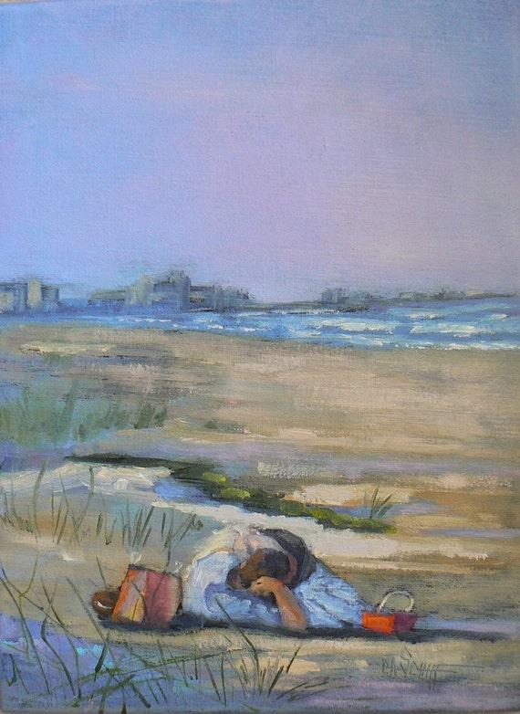 "Original Oil Painting,  ""Wind in Her Hair:, 16x12"""