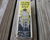 Vintage Gag Gift Novelty Bar Stool Safety Belt For The Drinker of Distinction Funny