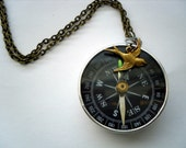 Where are you  Compass Necklace  item free shipping