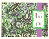 Funky Thank You Notes - Set of TEN