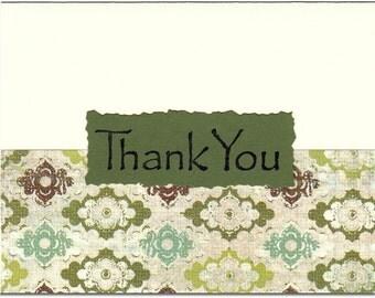 Evergreen Thank You Notes - Set of TEN
