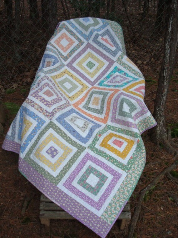 Feedsack Reproduction Baby/Lap Quilt
