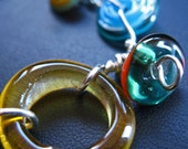 Bringing Summer Back - Lampwork and metal bracelet by Mary Payton Daniels