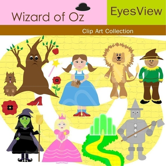 Items similar to Clip art, Wizard of Oz, Clipart, INSTANT ...