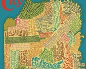 The Literary Map of San Francisco Laser-Cut Wooden Jigsaw Puzzle