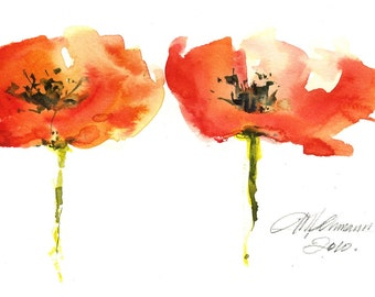 Botanical Series of Poppies