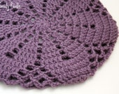 Crochet Slouchy Hat in Dusty Purple