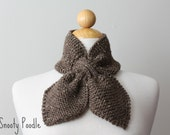 Scarflette Neck Warmer Knitted Barley Brown