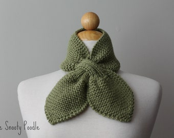 Scarflette Neck Warmer Knitted - Dusty Green