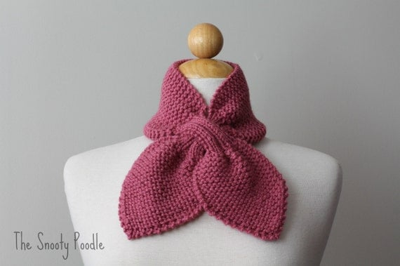 Scarflette Neck Warmer Knitted Rose Pink
