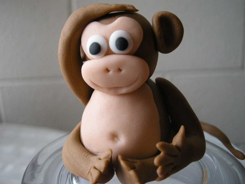 fondant monkeys
