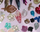 Vintage FANTASY Fun Pack Party Sequins (50) Flowers, leaves, embellishments, spangles
