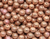 Vintage Heavy Copper Coated Aged Patina Beads (30) 10 mm Steampunk, Balls, Plating