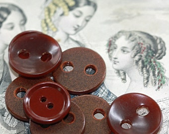 Huge Holed Brown Vintage Button Collection - a MISH MASH - Celluloid