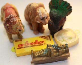 King Tut's Picnic - Vintage Animal Figures - Charms - Fun Pack Destash
