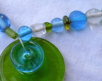 Bubbly Blue and Green Necklace