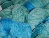 Studio June Yarn Super Cash Sock - Cashmere, Superwash Merino, Nylon Color:  Beach Glass