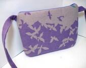 Japan Relief - Pale Purple Birdsong Purse