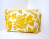 Medium Cosmetic Pouch   Spring Yellow Flower