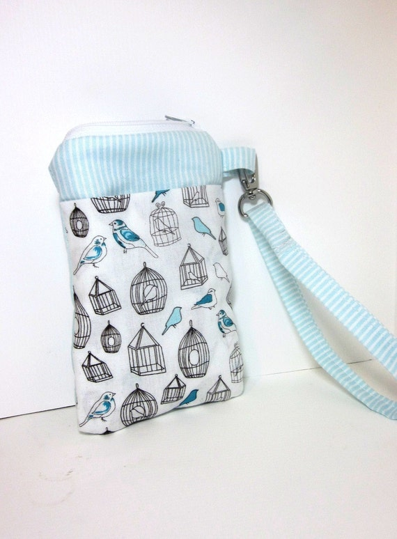 Bird Cage Gadget Zipper Pouch for I Touch, I Phone, Cell Phone