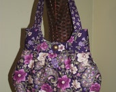 Sweet Pea Tote Purple Floral