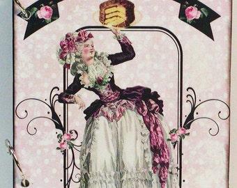 Marie Antoinette Let Them Eat Cake Custom Wood Blank Recipe Book