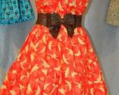 Bird Bird Bird Hippie Halter Dress  Sale