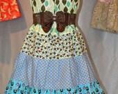 Hippie Patchwork Summer  Halter Dress S 102 On Sale