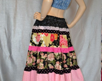 Beautiful  Hippie Patchwork Skirt SALE