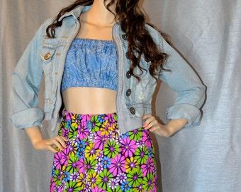 Airada Flowers Mini Skirt   A1