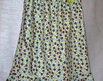 Pillow Case Toddler Dress Whit Flower Pin Size 5-6 G10
