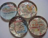 NYC Map Marble Magnets - Set of 6