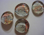 California Map Marble Magnets - Set of 6